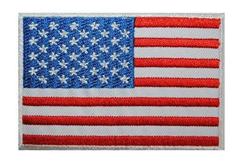 Aufnäher Patch Flagge USA 8 x 5 cm Chopper Motorrad Biker Motorradcross Patches Aufbügler