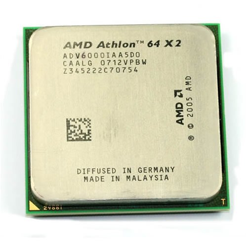 XCPU AM2 AMD Athlon 64 X2 6000+ 2x512kB (3,1GHz) 89W Brisbane Tray