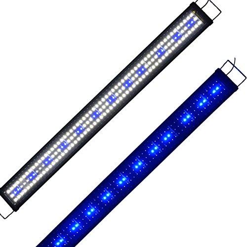 Lumiereholic Aquarien Eco Tageslichtsimulation Aquarium LED Beleuchtung Lampe für Süßwasser Meerwasser voll Spectrum Reef Coral Fish Wasserpflanzen -