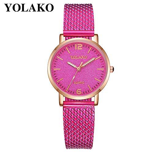 TianWlio Armbanduhren Damen Beiläufige Quarz Plastiklederband Starry Himmel Analoge Armbanduhr