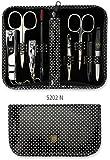 Drei Schwerter   Exklusives 8-teiliges Maniküre - Pediküre - Nagelpflege-Set / Etui   Qualität - Made in Solingen (520203)