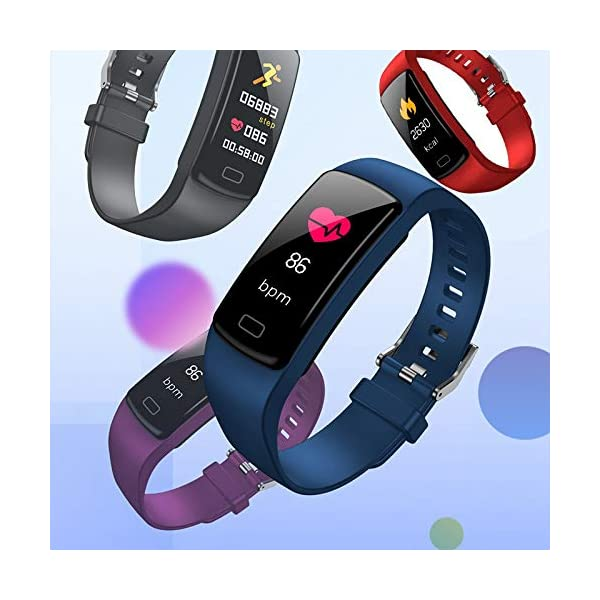 TOOGOO Banda de Rastreador de Actividad Inteligente Y9 Pulsera de Fitness Monitor de Pulso Cardíaco Pulseras de Presión Arterial para Teléfono Inteligente Banda Inteligente (Azul) 6