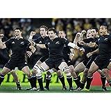"""Nueva Zelanda equipo de Rugby Póster de tela 36""""x24""""/20""""x13"""", 36""""x24"""""""