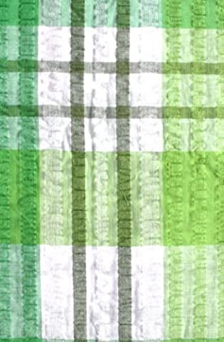 Green Check Seersucker Tablecloth 50/70 by D&M