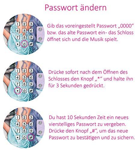 Depesche 10543 Schmuckkästchen mit Code und Sound, TOPModel, pink, ca. 15,7 x 20 x 12,5 cm, bunt
