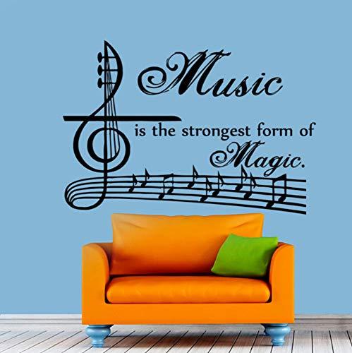Qbbes Musik Ist Die Stärkste Form Der Magie Wandtattoos Vinyl Kunst Aufkleber Abnehmbare Musiknoten Home Decor 60X43 Cm (Magie Verkauf Von Kunst)