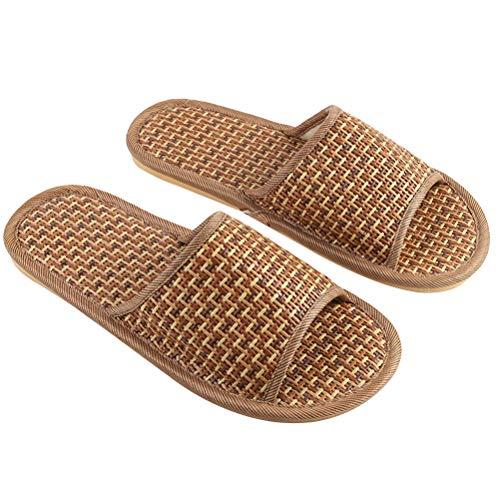 FENICAL Bambus Hausschuhe flip Flop Haus Slip auf Bath spa Sommer Sandale leichte Schuhe für Frauen männer (42/43)