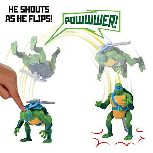 Return of the Teenage Mutant Ninja Turtles 81401 ROTMNT-Deluxe Leonardo rückwärts Salto Attacke Deluxs Action Figur, mehrere Farben