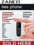 2019 ZANCO BEE (B33) PHONE WORLDS SMALLEST THINNEST MOBILE SMS BT MUSIC BT DIALER MP3 UNLOCKED CE ROHS WCDMA & GSM PLASTIC sold by mccs