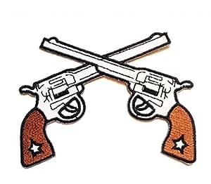 Pistolets Patch ''10.2 x 7.7 cm'' - Écusson brodé Ecussons Imprimés Ecussons Thermocollants Broderie Sur Vetement Ecusson