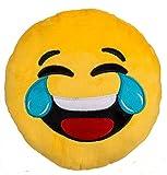 Bada Bing Emoji Kissen 1041 Tränen Lachen ø 30 cm Emotion Smiley Rund Sofa Couch Whats App Emotion