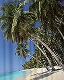 Papillon Duschvorhang, Textil, Design: Urlaub, 180x 200cm