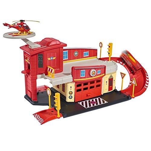 feuerwehrmann sam neue feuerwehrstation Dickie Toys 203099623 - Feuerwehrmann Sam Fire Rescue Centre, Rettungsstation, 48 x 26 x 23 cm