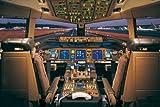 Educational - Bildung Flugzeug - Airplane-Boeing 777-200 Cockpit Plakat Druck - Maxiposter Version in Englisch - Grösse 91,5x61 cm + 1 Ü-Poster der Grösse 61x91,5cm