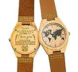 Gravierte Holz Bambus Uhr für Männer personalisierte Geburtstag Geburtstagsgeschenk für Ehemann
