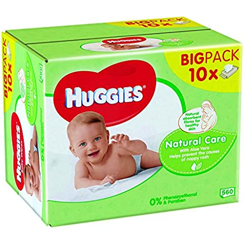 Huggies Natural Care - Toallitas bebé, 560 uds