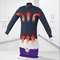 Automatischer Bügler für Hemden und Blusen, Bügelpuppe (Trocknet und bügelt Kleidung automatisch in einem Schritt) (Violett)