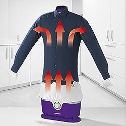 Repasseur automatique pour chemises et chemisiers, mannequin de repassage (sèche et repasse les vêtements automatiquement en une étape) Violett