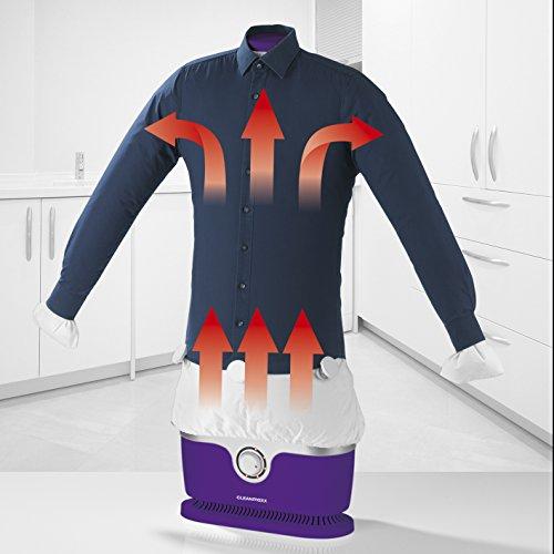 Stiratrice automatica per camicie e camicette (asciuga e stira automaticamente i vestiti in un solo passaggio) violett