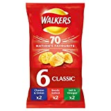 Walkers Classic Variety Crisps, 25 g, Pack of 6