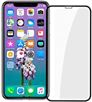 iPhone Xs Max Screen Protector, [Easy Install] 3D Curved Anti-Bubble Ultra HD Tempered Glass Case Friendly Scr
