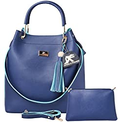 Speed X Fashion Women's Handbag And Shoulder Bag With Sling Bag Combo (SNTY-120T Blue)