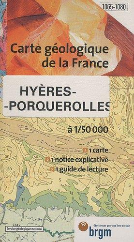 Carte géologique : Hyères - Île de Porquerolles