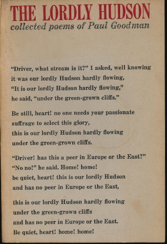 The Lordly Hudson. Collected poems of Paul Goodman