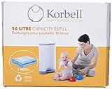 Korbell m250dr1 1x Recharges Poubelle à couches 16 L