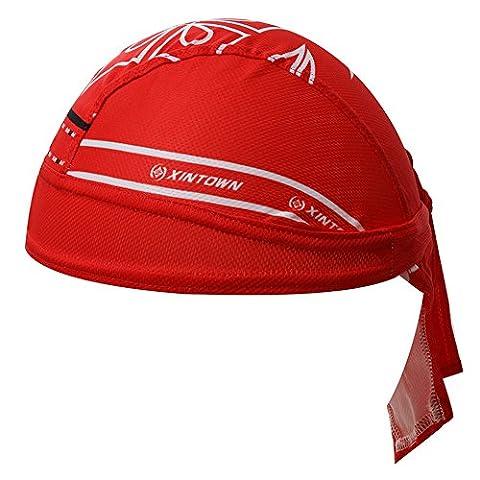 HYSENM Outdoor Sunscreen Cycling Bandana Sports Headwear Beanie Hat Headband Quick Dry Under Helmet for Men Unisex,