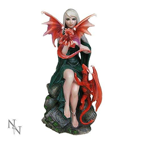 Fatina con drago, dipinta a mano, statuina in resina di Anne Stokes