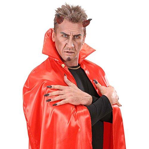 Amakando Teufelshörner Teufel Hörner am Gummizug Teufelin Kopfbedeckung Rote Teufelhörner Satan Teufelkostüm Halloween Devil Horns