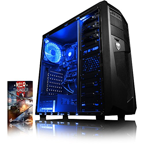 VIBOX Black-Ice LA6-39 Gaming PC Computer mit War Thunder Spiel Bundle (3,8GHz AMD A6 Dual-Core Prozessor, Radeon R5 Grafik Chip, 8Go DDR4 2133MHz RAM, 1TB HDD, Ohne Betriebssystem)
