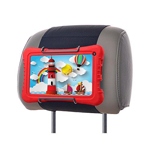 WANPOOL Auto Kopfstützenhalterung für Dragon Touch 7-Zoll Tablet mit Silikonhülle und andere Android Kinder Tablets