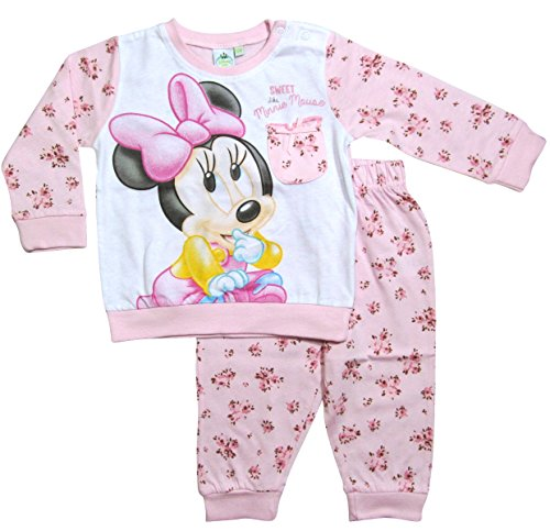 Minnie Mouse Kollektion 2017 Schlafanzug 74 80 86 92 98 Mädchen Pyjama Disney Neu Maus Rosa (80 - 86, Rosa) (Disney Baby Minnie Maus)