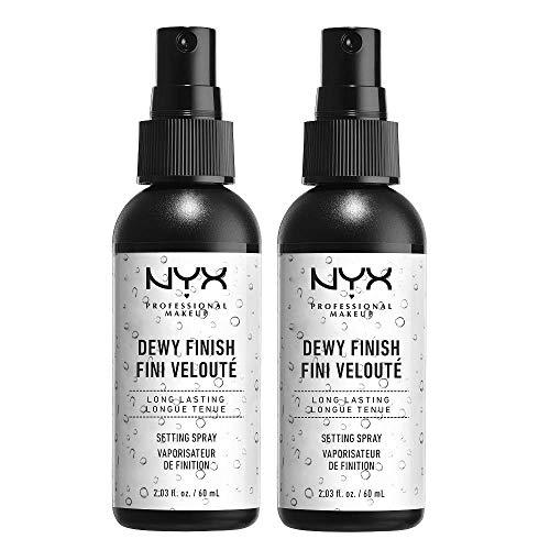 NYX Professional Makeup Setting Spray, Formula Leggera a Lunga Tenuta, Finish Dewy, Confezione da 2 x 60 ml