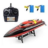 Barca RC 2.4GHz 20MPH ad alta velocità per barche con funzione di reset Giocattoli di telecomando per bambini
