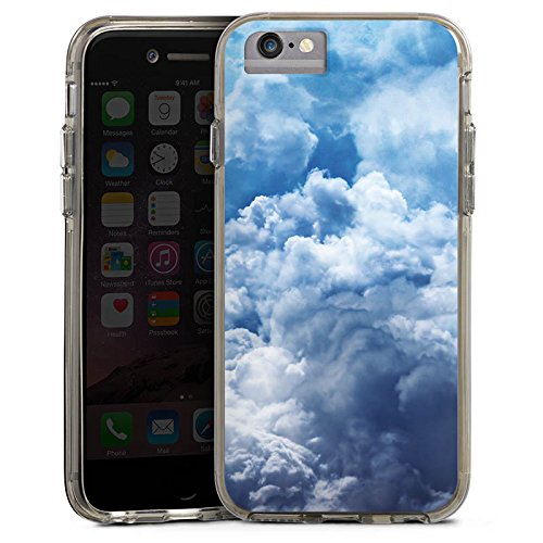 Apple iPhone 7 Plus Bumper Hülle Bumper Case Glitzer Hülle Wolken Himmel Landschaft Bumper Case transparent grau