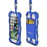 Teléfono Acollador Universal 4 '' a 6 '' Silicona Caso con Cuello Correa para iPhone 7/7 Plus/6/6 Plus/5/Samsung Note 4/5/LG/HTC/Huawei by ARMRA (Azul Oscuro)
