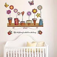 Mensola da parete con fioriere. vector-Decorazione adesiva da