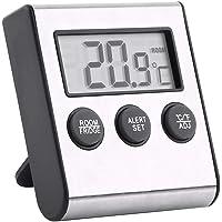 Réfrigérateur Réfrigérateur Thermomètre Thermomètre numérique de chambre congélateur étanche avec aimant et support…