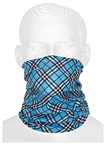 Blue Winter Bandana Tube Scarf Multifunctional Headwear/scarf/Balaclava/Mask for Cycling/Motorcycle Paintball | Pure for Men and