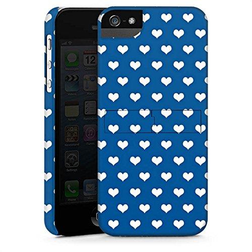 Apple iPhone X Silikon Hülle Case Schutzhülle Herzchen Polka Muster Premium Case StandUp