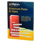 getDigital 7536 Geek Poesie Kühlschrankmagnete Wortpuzzle Kühlschranknachrichten Flache Kühlschrankmagnete, Magnet, Weiß, 15 x 20 x 1.5 cm