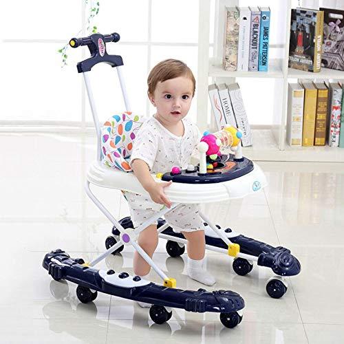 WUYY Andadores Beby 2 En 1 Multifuncional Anti-Rollover Bebé Niña Niños Pequeños Mano Empuje Puede...