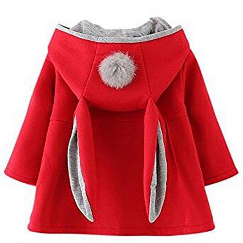 Odziezet Manteau de bébé Filles Manteau Chaud d'hiver Veste Chaud épais Vêtements