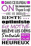 "Sticker mural ""Au bureau"" original (Noir et rose, 40_x_60_cm)..."
