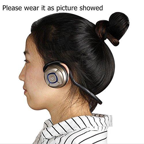 Whitelabel MusicJogger - Auriculares estéreo Bluetooth de diadema para deportes con micrófono incorporado para manos libres, negro