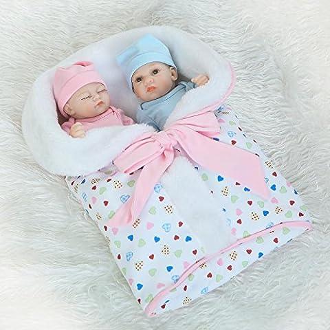 NPK True Looking Realistic Full Soft Silicone Body Reborn Doll Baby Vinyl Real Life Like Newborn Dolls Fake Babies Boy and Girl Twins