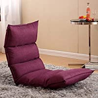 CQSMOO Sofá Perezoso Lazy Sofa, Bed Chair, Single Balcony Small Sofa Recliner Chair by (Color : Purple)